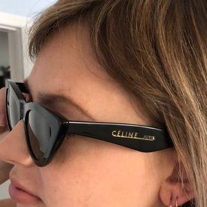 Celine cat eye black frame sunglasses